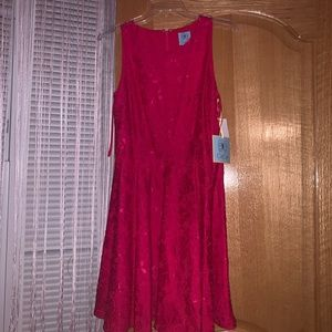 cece size 6 fusha/pink fit and flare dress w TAGS